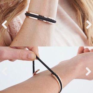 Rose Gold Hair Tie Bracelet - Flower Design